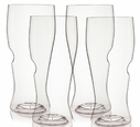 Set of 4 GoVino Beer Glasses - Dishwasher Safe