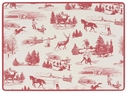 Set of 4 Holiday Toile Corkback Placemats
