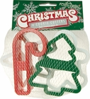 Set of 4 Plastic Christmas Cookie Cutters