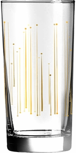 Set of 4 Resonance Gold Decor Glass - Click to enlarge