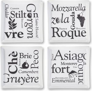 Set of 4 Square Appetizer Plates - Click to enlarge