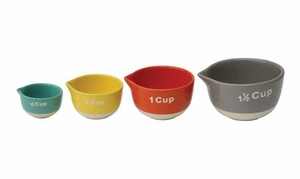 Set of 4 Stoneware Measuring Cups - Click to enlarge