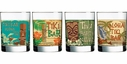 Set of 4 Tiki Pop Double Old Fashioned Glasses