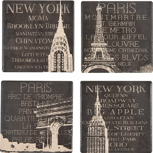 Set of 4 Travel Coasters - Click to enlarge