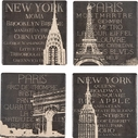 Set of 4 Travel Coasters