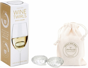 Set of 4 Wine Twirls® Wine Chillers - Click to enlarge