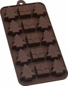 Silicone Holiday Chocolate Mold - Click to enlarge