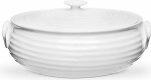 Sophie Conran for Portmeirion White 3.5 Pint Covered Oval Serving Dish - Click to enlarge