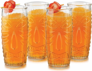 Libby Set of 4 Tiki Cooler Glasses - Click to enlarge