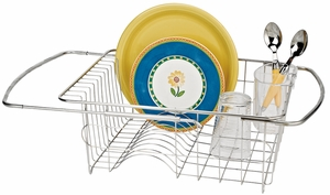 Stainless Steel Over the Sink Dish Drainer - Click to enlarge