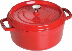 Staub 4 Quart Round Cocotte Cherry - Click to enlarge