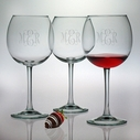 Susquehanna Glass Set of 4 Balloon Red Wine Glasses