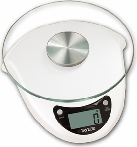 Taylor Glass Top 6.6 LB Digital Food Scale - Click to enlarge