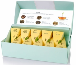 Tea Forte Lotus Collection Ribbon Box - 20 - Click to enlarge