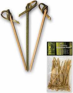 Totally Bamboo Pack of 50 Knotted Appetizer Picks - Click to enlarge