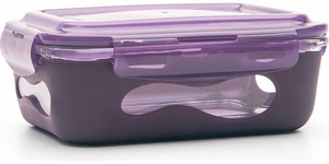 U-Konserve Eggplant Glass Container with Silicone Sleeve 36 oz - Click to enlarge