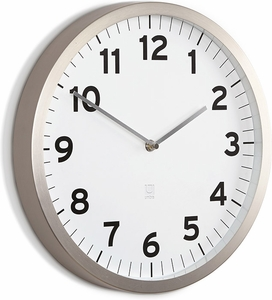 Umbra  Anytime Clock White - Click to enlarge