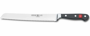 "Wusthof Classic 9"" Double Serrated Bread Knife - Click to enlarge"