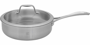 Zwilling J.A. Henckels Spirit Stainless Steel 3 Quart Saute Pan with Lid - Click to enlarge