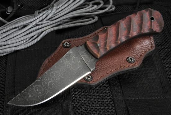 Exclusive Winkler Blue Ridge Hunter - Sculpted Maple and Damascus