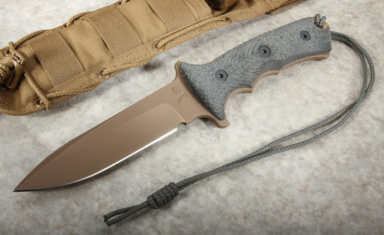 Chris Reeve Green Beret 5.5 FDE Non Serrated Fixed Blade