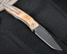 Chris Reeve Mnandi Box Elder and Ladder Damascus Folding Knife