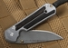 Chris Reeve Small Sebenza 21 - Gabon Ebony Inlay - Ladder Damascus Steel