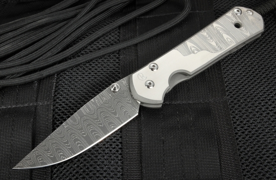 Chris Reeve Large Sebenza 21 Ladder Damascus & CGG Ladder Graphic