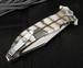 "Exclusive Darrel Ralph AXD 5.5"" Custom Carbon Fiber and Flames - Bowie Blade"