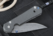 Exclusive Chris Reeve Small Sebenza Carbon Fiber and Basket Weave Damascus