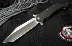 "Exclusive Darrel Ralph AXD 5.5"" Custom Carbon Fiber and Flames - Tanto"