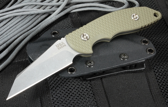"""Rick Hinderer FXM 3.5"""" Wharncliffe Fixed Blade - OD Green"""