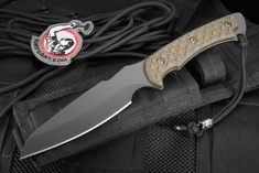 Spartan Hybris Combat Utility Knife - Black and Green