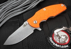"Rick Hinderer Jurassic 3.25"" Flipper - Orange G-10"