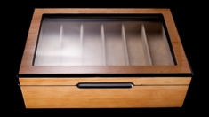 Knife Display Case LT - Wood & Glass Presentation Box