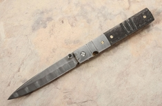 Mel Pardue Doctors Damascus and Carbon Fiber Folder