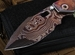 Mick Strider Custom SMF XL Blued Damascus Harpoon Nightmare Grind
