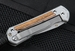 Chris Reeve Small Sebenza 21 Bocote Folding Knife with S35VN Steel