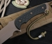 Spartan Blades Horkos - Dark Earth Blade & Black Micarta Tactical Fixed Blade