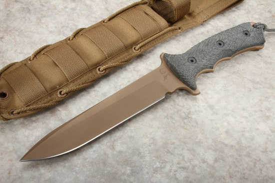 "Chris Reeve Green Beret 7"" FDE Non Serrated"