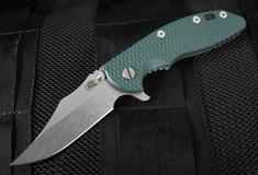 "Rick Hinderer XM-18 3.5"" Bowie Blade - Green G-10"