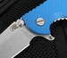 """Hinderer Knives XM-18 3.5"""" FATTY Edition Harpoon - Blue"""