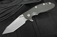 "Rick Hinderer XM-18 3.5"" FATTY Edition Harpoon - Black and Green"
