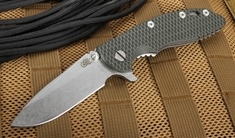 """Rick Hinderer XM-18 3.5"""" Spearpoint - Black and Green - S35VN Steel"""