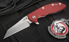 """Rick Hinderer XM-18 3.5"""" Wharncliffe Blade Red G-10 Folding Knife"""