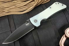 Southern Grind Bad Monkey - Jade Green G10 - Black PVD Drop Point