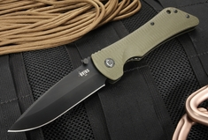 Southern Grind Bad Monkey - OD Green G10 - Black PVD Drop Point