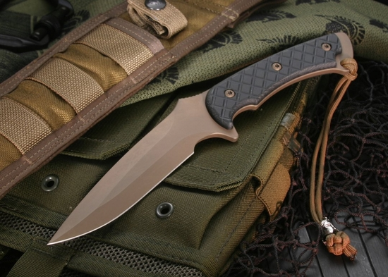 Spartan Blades Ares Flat Dark Earth & Black Micarta Tactical Fixed Blade - Spartan Blades Ares