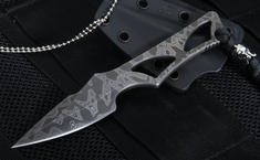 Spartan Blades Exclusive Enyo Fixed Blade with Stainless Fade Damascus