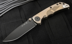 Spartan Blades Special Edition Harsey Folder - Helmet Engraved - Bronze Anodized
